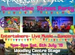 Woodley Town Council Street Party Centre Stage