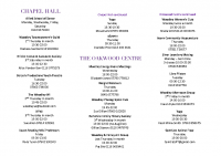 Clubs & Activities Leaflet