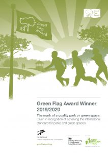 Green Flag certificate Woodford Park Woodley