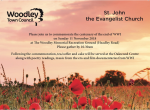 Woodley Town Council WWI Centenary Invitation detail