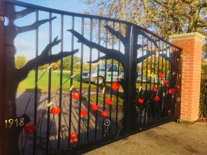 Woodley memorial gates
