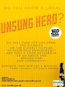 Woodley town council citizen awards