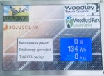 solar panel readings Woodford Park Leisure Centre Woodley