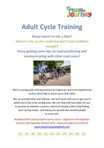 adult cycle training Woodley