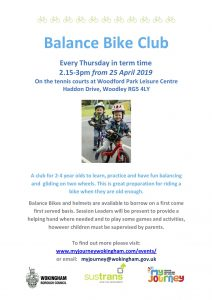 balance bike club Woodley