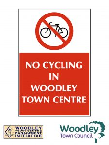 no cycling woodley town centre