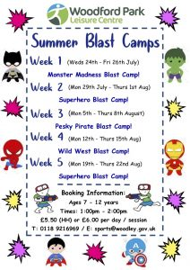 WPLC summer blast camps