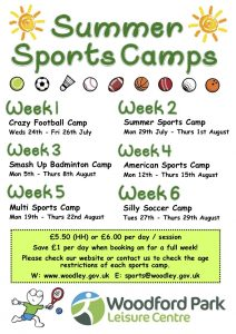 WPLC summer sports camps
