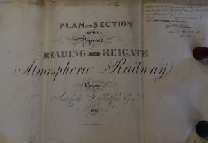 plan of Reading and Reigate railway