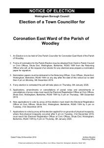 notice of election Woodley