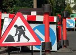 Woodley roadworks