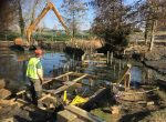 Woodford Park lake boardwalk foundations