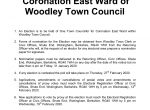 notice of election Woodley town council