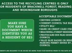 re3 ID to access recycling centres