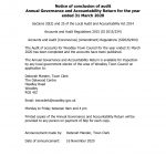 Notice of conclusion of audit 2020
