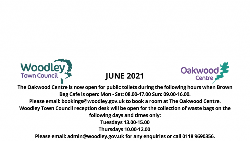 June opening hours Woodley Town councill
