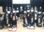 town mayor awards mini medics Bulmershe school