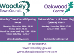 Woodley Town Council Oakwood Centre opening hours
