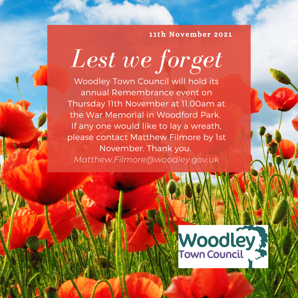 remembrance 2021 woodley